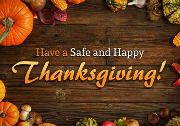 Enjoy your Thanksgiving with loved ones!